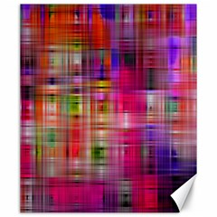 Background Abstract Weave Of Tightly Woven Colors Canvas 20  X 24   by Simbadda