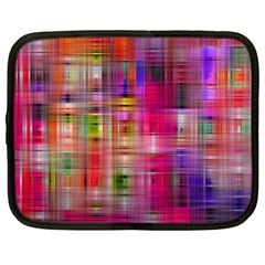 Background Abstract Weave Of Tightly Woven Colors Netbook Case (large) by Simbadda