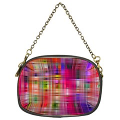 Background Abstract Weave Of Tightly Woven Colors Chain Purses (one Side)  by Simbadda