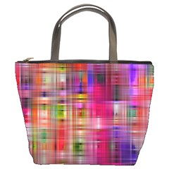 Background Abstract Weave Of Tightly Woven Colors Bucket Bags by Simbadda