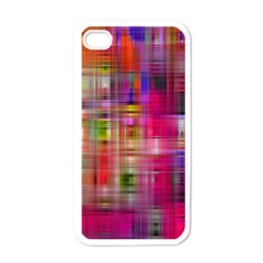 Background Abstract Weave Of Tightly Woven Colors Apple Iphone 4 Case (white) by Simbadda