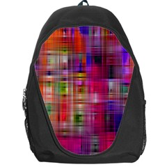 Background Abstract Weave Of Tightly Woven Colors Backpack Bag