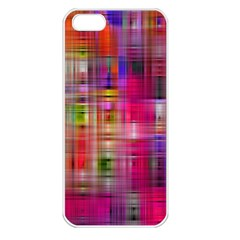 Background Abstract Weave Of Tightly Woven Colors Apple Iphone 5 Seamless Case (white)