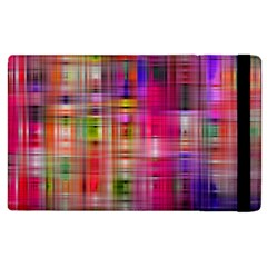 Background Abstract Weave Of Tightly Woven Colors Apple Ipad 3/4 Flip Case by Simbadda