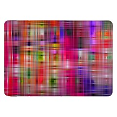 Background Abstract Weave Of Tightly Woven Colors Samsung Galaxy Tab 8 9  P7300 Flip Case by Simbadda