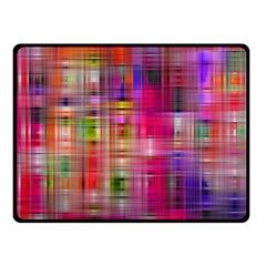 Background Abstract Weave Of Tightly Woven Colors Double Sided Fleece Blanket (small)