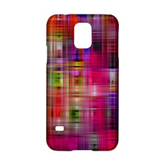 Background Abstract Weave Of Tightly Woven Colors Samsung Galaxy S5 Hardshell Case  by Simbadda
