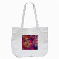 Background Abstract Weave Of Tightly Woven Colors Tote Bag (white) by Simbadda