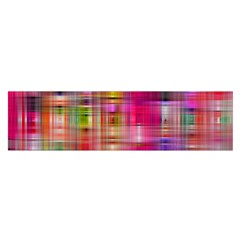Background Abstract Weave Of Tightly Woven Colors Satin Scarf (oblong)