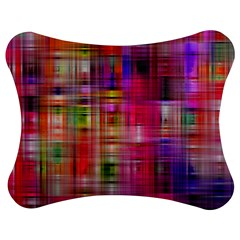 Background Abstract Weave Of Tightly Woven Colors Jigsaw Puzzle Photo Stand (bow) by Simbadda