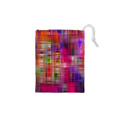 Background Abstract Weave Of Tightly Woven Colors Drawstring Pouches (xs)  by Simbadda