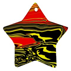 Abstract Clutter Star Ornament (two Sides) by Simbadda