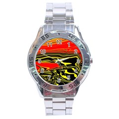 Abstract Clutter Stainless Steel Analogue Watch by Simbadda