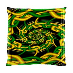 Green Yellow Fractal Vortex In 3d Glass Standard Cushion Case (one Side) by Simbadda