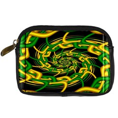 Green Yellow Fractal Vortex In 3d Glass Digital Camera Cases