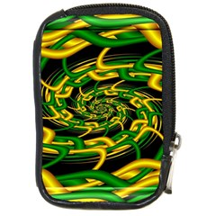 Green Yellow Fractal Vortex In 3d Glass Compact Camera Cases by Simbadda