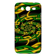 Green Yellow Fractal Vortex In 3d Glass Samsung Galaxy Mega 5 8 I9152 Hardshell Case  by Simbadda