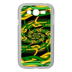 Green Yellow Fractal Vortex In 3d Glass Samsung Galaxy Grand Duos I9082 Case (white)