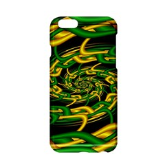 Green Yellow Fractal Vortex In 3d Glass Apple Iphone 6/6s Hardshell Case