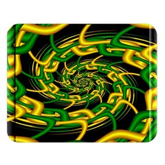 Green Yellow Fractal Vortex In 3d Glass Double Sided Flano Blanket (large)