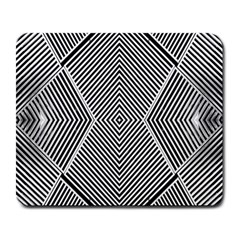 Black And White Line Abstract Large Mousepads by Simbadda