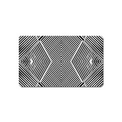 Black And White Line Abstract Magnet (name Card) by Simbadda