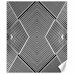 Black And White Line Abstract Canvas 20  X 24   by Simbadda