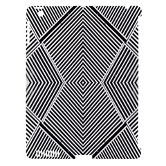 Black And White Line Abstract Apple Ipad 3/4 Hardshell Case (compatible With Smart Cover) by Simbadda