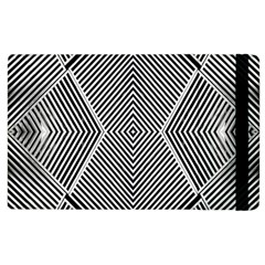 Black And White Line Abstract Apple Ipad 2 Flip Case by Simbadda