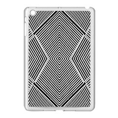 Black And White Line Abstract Apple Ipad Mini Case (white) by Simbadda