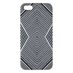 Black And White Line Abstract Iphone 5s/ Se Premium Hardshell Case