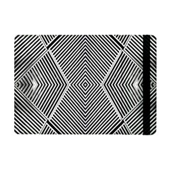 Black And White Line Abstract Ipad Mini 2 Flip Cases by Simbadda