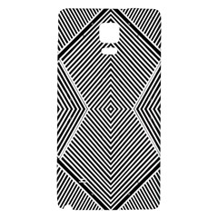 Black And White Line Abstract Galaxy Note 4 Back Case