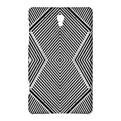 Black And White Line Abstract Samsung Galaxy Tab S (8 4 ) Hardshell Case