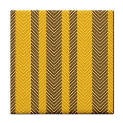Brown And Orange Herringbone Pattern Wallpaper Background Tile Coasters by Simbadda