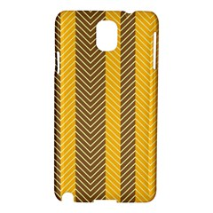 Brown And Orange Herringbone Pattern Wallpaper Background Samsung Galaxy Note 3 N9005 Hardshell Case by Simbadda