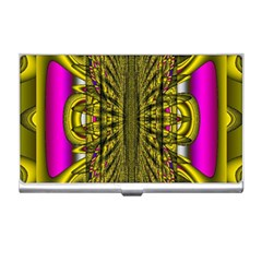 Fractal In Purple And Gold Business Card Holders