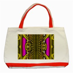 Fractal In Purple And Gold Classic Tote Bag (red) by Simbadda