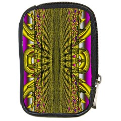 Fractal In Purple And Gold Compact Camera Cases by Simbadda