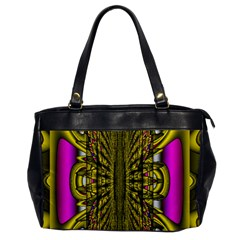 Fractal In Purple And Gold Office Handbags by Simbadda