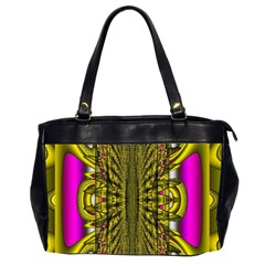 Fractal In Purple And Gold Office Handbags (2 Sides)  by Simbadda