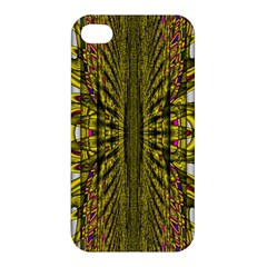 Fractal In Purple And Gold Apple Iphone 4/4s Hardshell Case