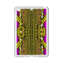 Fractal In Purple And Gold Ipad Mini 2 Enamel Coated Cases