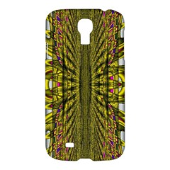 Fractal In Purple And Gold Samsung Galaxy S4 I9500/i9505 Hardshell Case by Simbadda