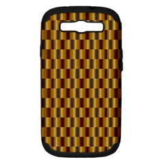 Gold Abstract Wallpaper Background Samsung Galaxy S Iii Hardshell Case (pc+silicone) by Simbadda
