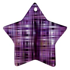 Purple Wave Abstract Background Shades Of Purple Tightly Woven Ornament (star)