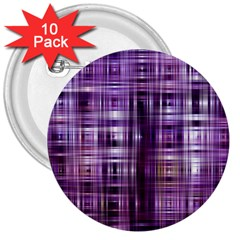 Purple Wave Abstract Background Shades Of Purple Tightly Woven 3  Buttons (10 Pack)  by Simbadda