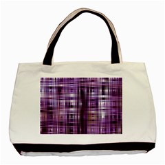 Purple Wave Abstract Background Shades Of Purple Tightly Woven Basic Tote Bag (two Sides) by Simbadda