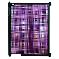 Purple Wave Abstract Background Shades Of Purple Tightly Woven Apple Ipad 2 Case (black) by Simbadda