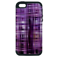 Purple Wave Abstract Background Shades Of Purple Tightly Woven Apple Iphone 5 Hardshell Case (pc+silicone) by Simbadda